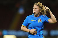 Italy&rsquo;s Veronica Madia in action during todays match<br /> <br /> Photographer Ian Cook/CameraSport<br /> <br /> 2018 Women's Six Nations Championships Round 4 - Wales Women v Italy Women - Sunday 11th March 2018 - Principality Stadium - Cardiff<br /> <br /> World Copyright &copy; 2018 CameraSport. All rights reserved. 43 Linden Ave. Countesthorpe. Leicester. England. LE8 5PG - Tel: +44 (0) 116 277 4147 - admin@camerasport.com - www.camerasport.com