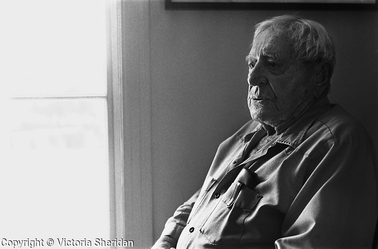 96 year old Cattle Rancher Boyd Stewart. Part of the Face of Labor portrait series. 1999 (Photo/Victoria Sheridan)