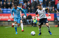 Bolton Wanderers' Dennis Politic breaks away from Coventry City's Wesley Jobello (left) <br /> <br /> Photographer Andrew Kearns/CameraSport<br /> <br /> The EFL Sky Bet Championship - Bolton Wanderers v Coventry City - Saturday 10th August 2019 - University of Bolton Stadium - Bolton<br /> <br /> World Copyright © 2019 CameraSport. All rights reserved. 43 Linden Ave. Countesthorpe. Leicester. England. LE8 5PG - Tel: +44 (0) 116 277 4147 - admin@camerasport.com - www.camerasport.com