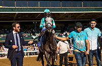 October 06 2018 : David Portnoy leads A Raving Beauty with John Velazquez  into the winner circle after winning the First Lady States at Keeneland Racecourse on October 05, 2018 in Lexington, Kentucky. Evers/ESW/CSM