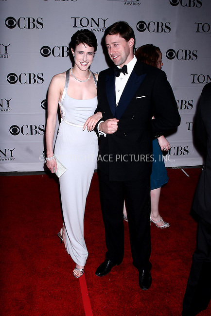 WWW.ACEPIXS.COM . . . . .  ....June 10, 2007. New York City.....Actress Xanthe Elbrick and guest arrive at the 61st Annual Tony Awards held at Radio City Music Hall.......Please byline: JOHN WARD - ACEPIXS.COM.... *** ***..Ace Pictures, Inc:  ..Philip Vaughan  (646) 769 0430..e-mail: info@acepixs.com..web: http://www.acepixs.com