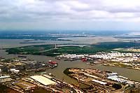 Aerial photo of the Houston Shipping Channel, 2008