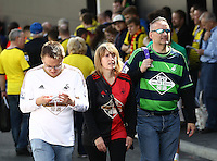 Swansea fans at Watford Fc  during the Barclays Premier League match Watford and Swansea   played at Vicarage Road Stadium , Watford