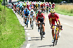 10km and the break tries to form featuring Spanish National Champion Jes&uacute;s Herrada (ESP) Cofidis, Thomas De Gendt (BEL) Lotto-Soudal and Maillot Vert Daryl Impey (RSA) Mitchelton-Scott during Stage 4 of the 2018 Criterium du Dauphine 2018 running 181km from Chazey sur Ain to Lans en Vercors, France. 7th June 2018.<br /> Picture: ASO/Alex Broadway | Cyclefile<br /> <br /> <br /> All photos usage must carry mandatory copyright credit (&copy; Cyclefile | ASO/Alex Broadway)