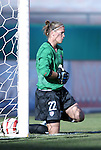 "16 October 2004: Nicole Barnhart warms up before the game. The United States defeated Mexico 1-0 at Arrowhead Stadium in Kansas City, MO in an women's international friendly soccer game as part of the U.S.'s ""Fan Celebration Tour.""."