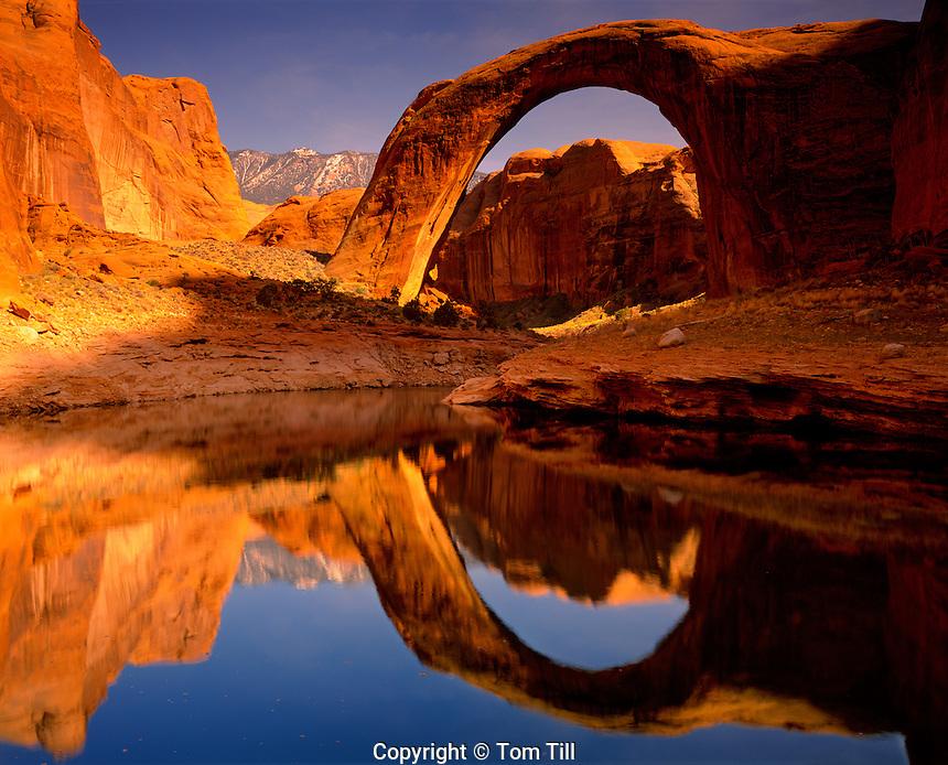 Rainbow Bridge Reflection, Rainbow Bridge National Monument, Utah    Lake Powell   Glen Canyon National Recreation Area