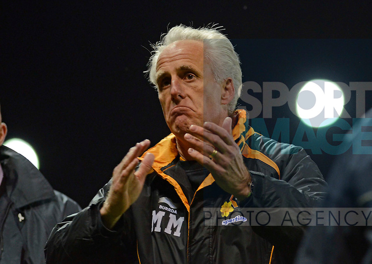 Wolves manager Mick McCarthy reacts to abuse from his own supporters at the end of his sides 3-0 defeat at the Britannia Stadium