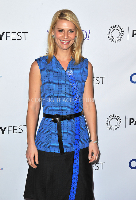 WWW.ACEPIXS.COM<br /> <br /> March 6 2015, LA<br /> <br /> Claire Danes arriving at The Paley Center For Media's 32nd Annual PALEYFEST LA - 'Homeland' at the Dolby Theatre on March 6, 2015 in Hollywood, California.<br /> <br /> By Line: Peter West/ACE Pictures<br /> <br /> <br /> ACE Pictures, Inc.<br /> tel: 646 769 0430<br /> Email: info@acepixs.com<br /> www.acepixs.com