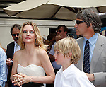 Michelle Pfeiffer  and husband David E Kelley and their children.Michelle Pfeiffer receives a star on the Hollywood of Fame at Hollywood & Highland on August 6, 2007.  .Photo by Nina Prommer/Milestone Photo