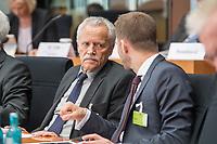 10. Sitzung des &quot;1. Untersuchungsausschuss&quot; der 19. Legislaturperiode des Deutschen Bundestag am Donnerstag den 17. Mai 2018 zur Aufklaerung des Terroranschlag durch den islamistischen Terroristen Anis Amri auf den Weihnachtsmarkt am Berliner Breitscheidplatz im Dezember 2016.<br /> In der Sitzung wurden in einer oeffentlichen Anhoerung als Sachverstaendige zum Thema: &quot;Foederale Sicherheitsarchitektur&quot; u.a. der ehemalige Chef des Bundesamt fuer Verfassungssschutz (Heinz Fromm), der ehemalige Direktor des Bundeskriminalamt (Juergen Maurer) und Rechtswissenschaftler befragt.<br /> Im Bild vlnr.: Heinz Fromm, Praesident des Bundesamtes fuer Verfassungsschutz a. D. und Dr. Nikolaos Gazeas LL.M., Rechtsanwalt, Koeln.<br /> 17.5.2018, Berlin<br /> Copyright: Christian-Ditsch.de<br /> [Inhaltsveraendernde Manipulation des Fotos nur nach ausdruecklicher Genehmigung des Fotografen. Vereinbarungen ueber Abtretung von Persoenlichkeitsrechten/Model Release der abgebildeten Person/Personen liegen nicht vor. NO MODEL RELEASE! Nur fuer Redaktionelle Zwecke. Don't publish without copyright Christian-Ditsch.de, Veroeffentlichung nur mit Fotografennennung, sowie gegen Honorar, MwSt. und Beleg. Konto: I N G - D i B a, IBAN DE58500105175400192269, BIC INGDDEFFXXX, Kontakt: post@christian-ditsch.de<br /> Bei der Bearbeitung der Dateiinformationen darf die Urheberkennzeichnung in den EXIF- und  IPTC-Daten nicht entfernt werden, diese sind in digitalen Medien nach &sect;95c UrhG rechtlich geschuetzt. Der Urhebervermerk wird gemaess &sect;13 UrhG verlangt.]