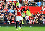 Paul Pogba of Manchester United celebrates after his goal during the Premier League match at Old Trafford Stadium, Manchester. Picture date: September 24th, 2016. Pic Sportimage