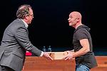 BUSSUM - Standup commedian Jochen Otten  met Maarten Wessels.   Nationaal Golf Congres & Beurs. COPYRIGHT KOEN SUYK
