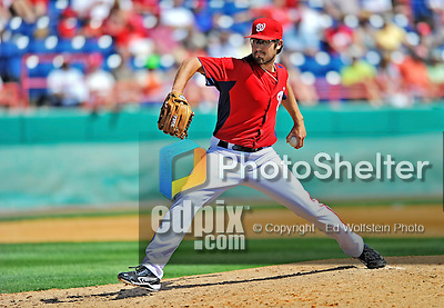 12 March 2012: Washington Nationals pitcher Matt Purke on the mound during a Spring Training game against the St. Louis Cardinals at Space Coast Stadium in Viera, Florida. The Nationals defeated the Cardinals 8-4 in Grapefruit League play. Mandatory Credit: Ed Wolfstein Photo
