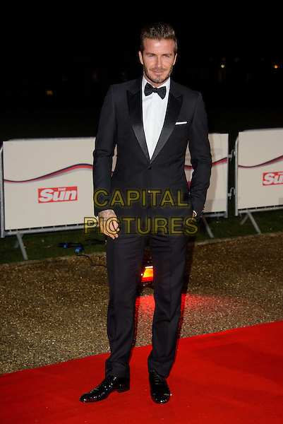 LONDON, ENGLAND - DECEMBER 10: David Beckham attends the Night of Heroes: The Sun Military Awards on 10 December 2014 at the National Maritime Museum, London, England. <br /> CAP/CJ<br /> &copy;CJ/Capital Pictures