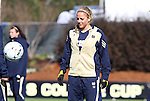 05 December 2010: Notre Dame's Adriana Leon. The Notre Dame University Fighting Irish defeated the Stanford University Cardinal 1-0 at WakeMed Stadium in Cary, North Carolina in the 2010 NCAA Women's College Cup Championship Game.
