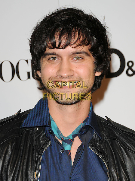 MICHAEL STEGER .at The 7th Annual Teen Vogue Young hollywood Party held at Milk Studios in Hollywood, California, USA, .September 25th 2009.                                                                   .portrait headshot black leather jacket blue shirt facial hair beard tie smiling .CAP/DVS.©Debbie VanStory/RockinExposures/Capital Pictures
