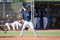 San Diego Padres shortstop Jarryd Dale (5) at bat during an Instructional League game against the Milwaukee Brewers at Peoria Sports Complex on September 21, 2018 in Peoria, Arizona. (Zachary Lucy/Four Seam Images)