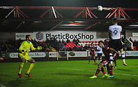 Preston North End's Jordan Hugill scores his sides second goal <br /> <br /> Photographer Kevin Barnes/CameraSport<br /> <br /> The Carabao Cup - Accrington Stanley v Preston North End - Tuesday 8th August 2017 - Crown Ground - Accrington<br />  <br /> World Copyright &copy; 2017 CameraSport. All rights reserved. 43 Linden Ave. Countesthorpe. Leicester. England. LE8 5PG - Tel: +44 (0) 116 277 4147 - admin@camerasport.com - www.camerasport.com