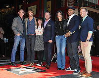 &quot;NCIS: Los Angeles&quot; stars Miguel Ferrer (left), Eric Christian Olsen, Renee Felice Smith, Chris O'Donnell, Daniela Ruah, LL Cool J &amp; Barrett Foa on Hollywood Boulevard where Chris O'Donnell was honored with the 2,544th star on the Walk of Fame.<br /> March 5, 2015  Los Angeles, CA<br /> Picture: Paul Smith / Featureflash