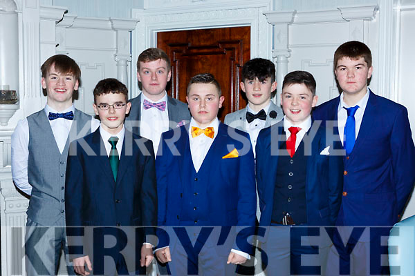Eoin Hurley, Nathan Moynihan, Liam O'Riordan, Darren O'Sullivan, Barry Murphy, Aona O'Shea and Joseph Courtney the South West Harriers Hunt club social in the Killarney Avenue Hotel on Saturday night