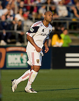 Robbie Russell of Real Salt Lake in action during the game against the Earthquakes at Buck Shaw Stadium in Santa Clara, California on March 27th, 2010.   Real Salt Lake defeated San Jose Earthquakes, 3-0.