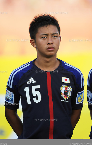 Yuki Aizu (JPN),<br /> OCTOBER 24, 2013 - Football / Soccer :<br /> FIFA U-17 World Cup UAE 2013 Group D match between Japan 2-1 Tunisia at Sharjah Stadium in Sharjah, United Arab Emirates. (Photo by FAR EAST PRESS/AFLO)
