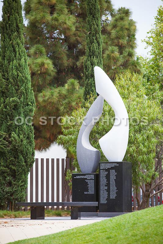 Air Disaster Memorial Sculpture at Cerritos Sculpture Garden