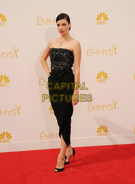 LOS ANGELES, CA- AUGUST 25: Actress Jessica Pare arrives at the 66th Annual Primetime Emmy Awards at Nokia Theatre L.A. Live on August 25, 2014 in Los Angeles, California.<br /> CAP/ROT/TM<br /> &copy;Tony Michaels/Roth Stock/Capital Pictures