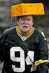 Green Bay Packer fan Ken Kietter , of Rosedale, Washington, gets out of the water after participating in the 23rd annual Olalla polar bear jump into the Burley lagoon in Olalla, Washington on January 1, 2007. This is his eight time jumping off the bridge on New Years Day. Jim Bryant Photo. ©2010. ALL RIGHTS RESERVED.