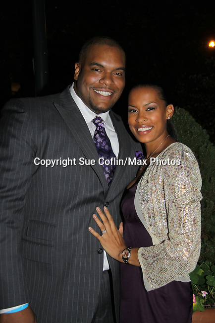 Kearran Giovanni & Sean Ringgold attend ABC Daytime Soap Casino Night with the Stars on October 28, 2010 at Guastavinos, New York City, New York. (Photo by Sue Coflin/Max Photos)