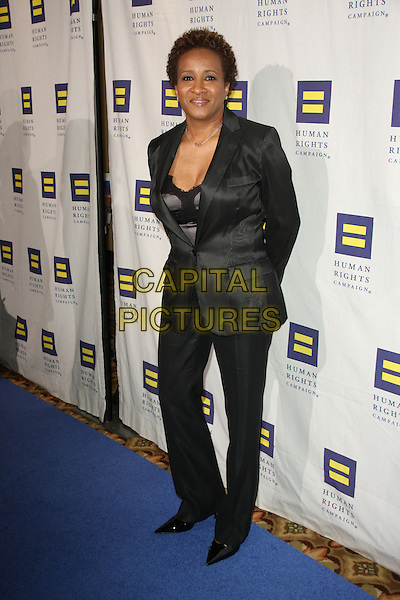 WANDA SYKES .The Human Rights Campaign's Annual Los Angeles Gala & Hero Awards held at the Hyatt Regency Plaza Hotel, Century City, California, USA, .14th March 2009..full length black suit jacket cleavage trousers blazer trouser .CAP/ADM/KB.©Kevan Brooks/Admedia/Capital PIctures