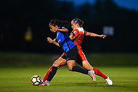 Boyds, MD - Saturday May 20, 2017: Sydney Leroux, Whitney Church during a regular season National Women's Soccer League (NWSL) match between the Washington Spirit and FC Kansas City at Maureen Hendricks Field, Maryland SoccerPlex.