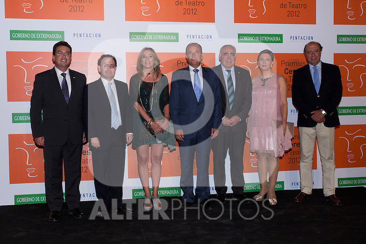 30.08.2012. Photocall guests and winners in the 'Ceres Theatre Awards 2012' in Merida (Extremadura). In the image Politics Extremadura (Alterphotos/Marta Gonzalez)