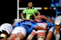 Tevita Li of the Highlanders during during the rugby match between the Highlanders and the French Barbarians at Rugby Park in Invercargill, New Zealand on Friday, 22 June 2018. Copyright Image: Joe Allison / lintottphoto.co.nz