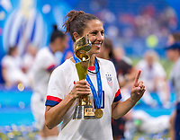 LYON,  - JULY 7: Carli Lloyd #10 celebrates during a game between Netherlands and USWNT at Stade de Lyon on July 7, 2019 in Lyon, France.