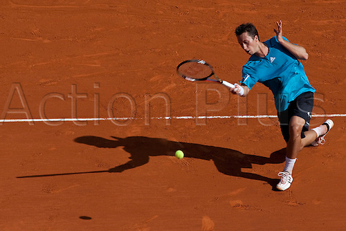MONTE CARLO, MONACO. 14/04/2010 Philipp Kohlschreiber (GER) in action during the second round at the ATP Monte Carlo Masters tennis tournament held in the Monte Carlo Country Club, Monaco, between from the 12th to the 18th April. .