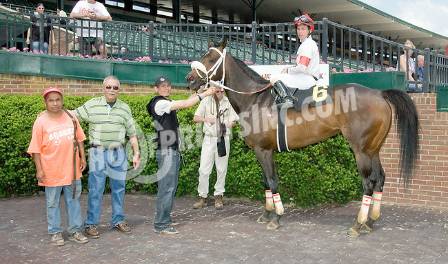 Cat Wiesel winning at Delaware Park on 5/24/12
