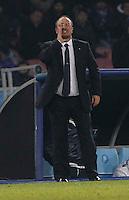 Rafael Benitez   durante l'incontro di calcio di Champions Leahue  Napoli Arsenal allo  Stadio San Paolo  di Napoli , 13 Dicembre  2013<br /> Foto Ciro De Luca