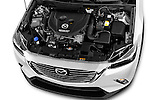 Car Stock 2015 Mazda CX-3 Pure Edition 5 Door Suv Engine  high angle detail view
