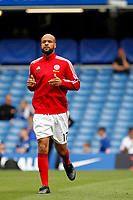David McGoldrick of Sheffield United warms up during the Premier League match between Chelsea and Sheff United at Stamford Bridge, London, England on 31 August 2019. Photo by Carlton Myrie / PRiME Media Images.