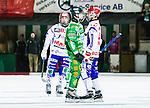 Stockholm 2015-01-16 Bandy Elitserien Hammarby IF - IFK Kung&auml;lv :  <br /> Hammarbys Kasper Milerud och Kung&auml;lvs Hampus K&auml;rnman i br&aring;k under matchen mellan Hammarby IF och IFK Kung&auml;lv <br /> (Foto: Kenta J&ouml;nsson) Nyckelord:  Elitserien Bandy Zinkensdamms IP Zinkensdamm Zinken Hammarby Bajen HIF IFK Kung&auml;lv slagsm&aring;l br&aring;k fight fajt gruff