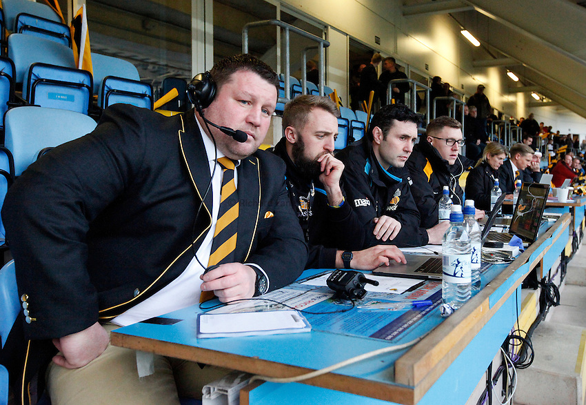 Photo: Richard Lane/Richard Lane Photography. Wasps v London Irish. Aviva Premiership. 21/12/2014. Wasps' first game at the Ricoh Arena as their new home. Wasps' Director of Rugby, Dai Young.