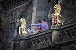© Joel Goodman - 07973 332324 . 31 August 2013 . Rochdale , UK . Cheeky scamps on the balcony . The Rochdale Feel Good Festival . Photo credit : Joel Goodman