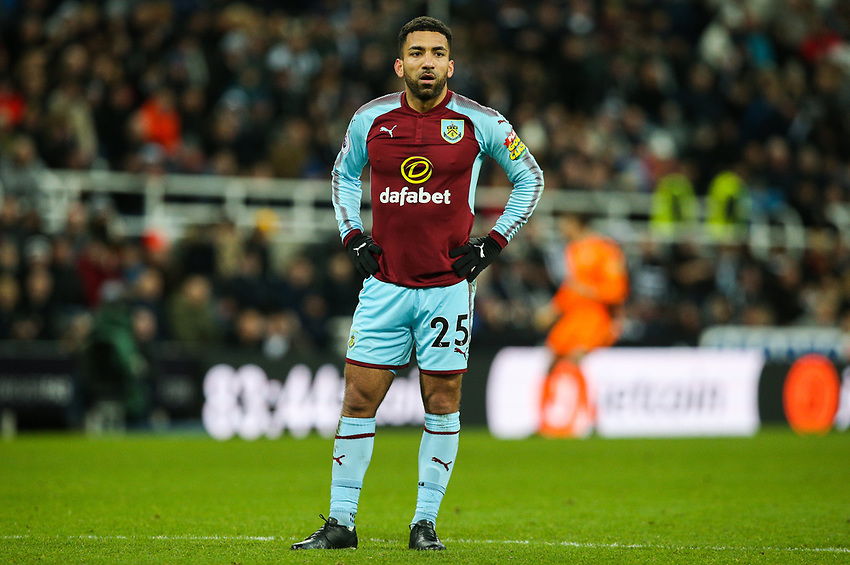 Burnley's Aaron Lennon<br /> <br /> Photographer Alex Dodd/CameraSport<br /> <br /> The Premier League - Newcastle United v Burnley - Wednesday 31st January 2018 - St James' Park - Newcastle<br /> <br /> World Copyright &copy; 2018 CameraSport. All rights reserved. 43 Linden Ave. Countesthorpe. Leicester. England. LE8 5PG - Tel: +44 (0) 116 277 4147 - admin@camerasport.com - www.camerasport.com