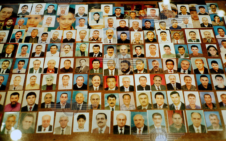 Palestinian identity (ID) photographs in a photo store in East Jerusalem.