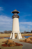 A Lighthouse in Elk City Oklahoma? The Elk City Centenial Lighthouse was built to honor the Oklahoma Centennial and stands 42 feet with a beacon to light up a night.