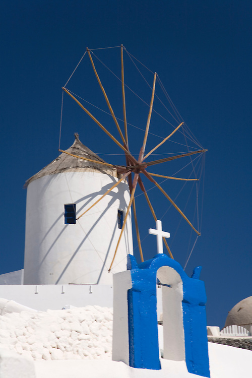 The windmills of Santorini Island-Cyclades,Greece