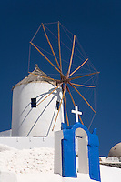 The windmills of Santorini Island-Cyclades,Greece