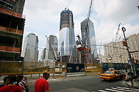 Tenth anniversary of 9/11.  Rebuilding at the World Trade Center site.