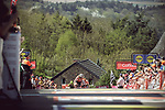 Race favourite Anna Van Der Breggen (NED) Boels Dolmans Cycling Team summits the Mur de Huy to win for the 4th consecutive time La Fleche Wallonne Femmes 2018 running 118.5km from Huy to Huy, Belgium. 18/04/2018.<br /> Picture: ASO/Thomas Maheux | Cyclefile.<br /> <br /> All photos usage must carry mandatory copyright credit (&copy; Cyclefile | ASO/Thomas Maheux)